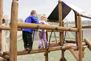Natural Wood Playground Commercial Accessories