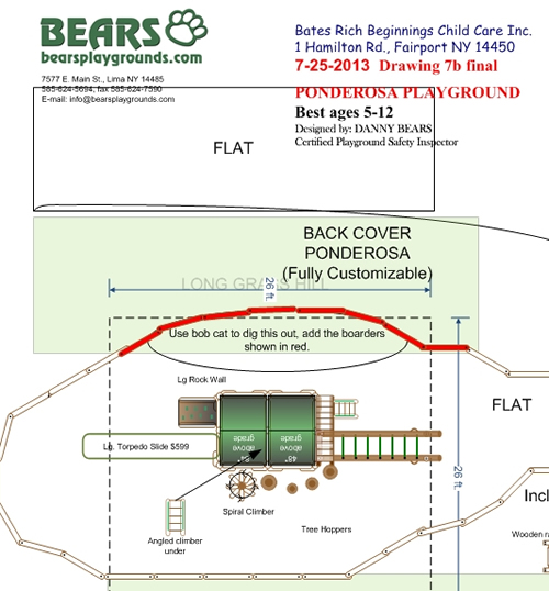 Plan View for Blue Bend Ponderosa Playground by Bears Playgrounds