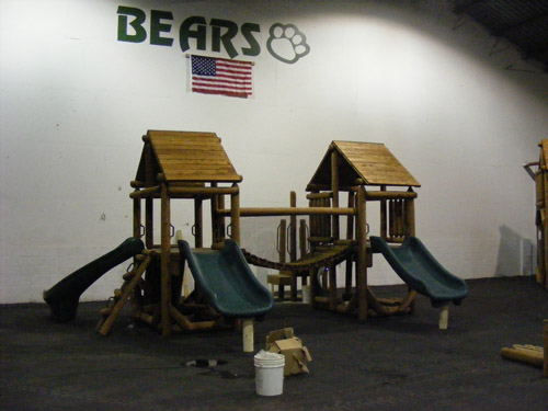 Purdue University Proudest Monkey Tree Fort Village by Bears Playgrounds