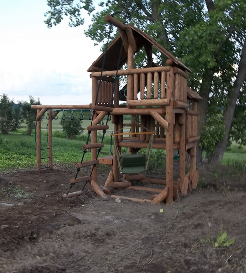 Custom Tree Fort created from our Ponderosa Playground model photo 1